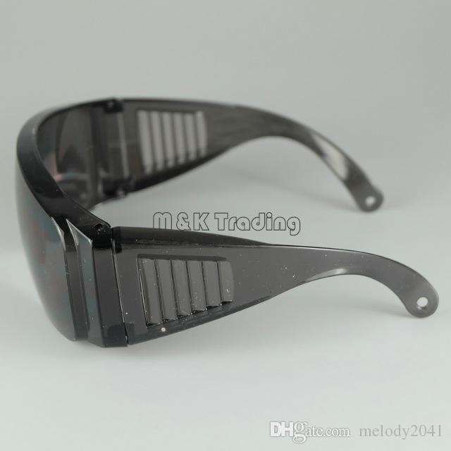 Lunettes de sécurité anti-rayé lunettes de sécurité grand cadre anti-poussière résistant au vent travail protection noir et blanc bateau gratuit