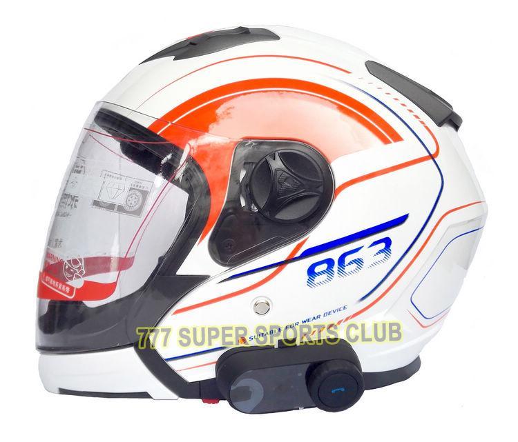/ lote el más nuevo casco de Bluetooth Intercoms Radio FM casco de la motocicleta Bluetooth Intercom Auriculares Auriculares BT TOM-VB