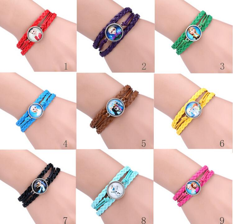 Hot New Bracelet Cartoon Jewelry Olaf Bracelets Baby Girls ...