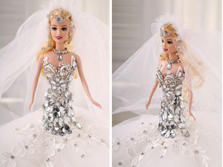 Barbie Dolls Girl Wedding Dolls Villain Crystal Christmas ...