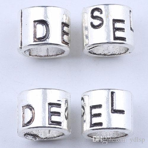 Новая мода серебро/медь DIY ювелирных изделий кулон цилиндрической DESEL алфавит подвески Fit ожерелье или браслет /много 1864c
