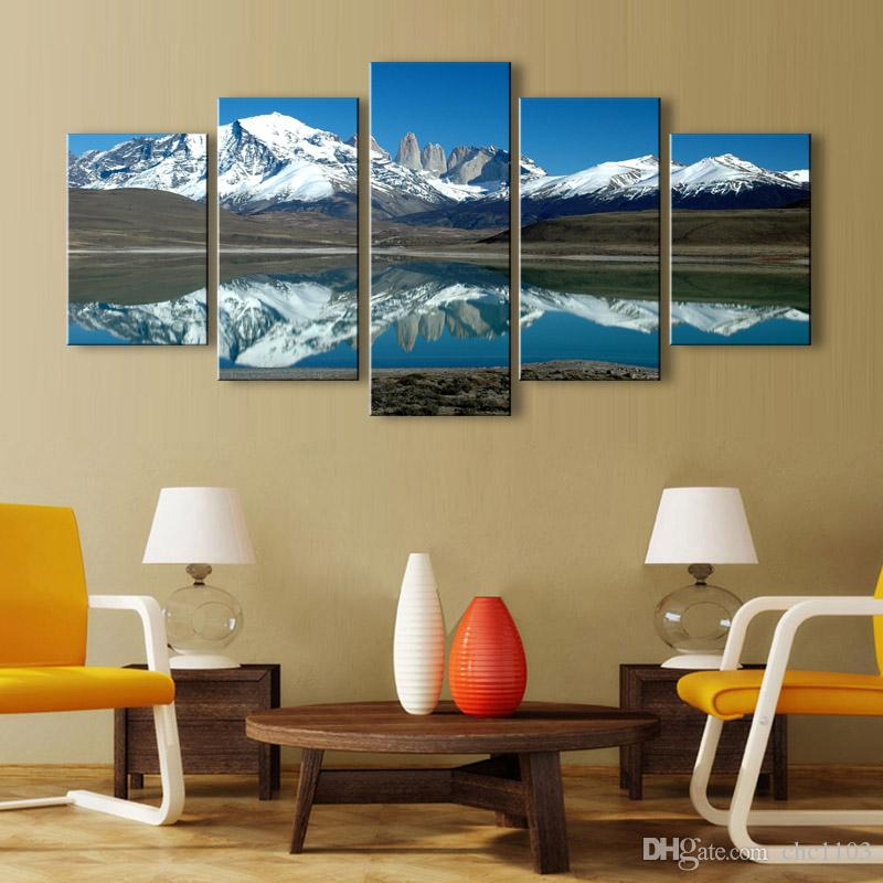 5 stücke high-definition print Pulse schnee leinwand ölgemälde poster und wandkunst wohnzimmer bild PL5-205