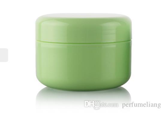 20g 50g 100g 5 kleur crème pot cosmetische container, hoge kwaliteit plastic fles, make-up monster pot, cosmetische verpakking gratis verzending