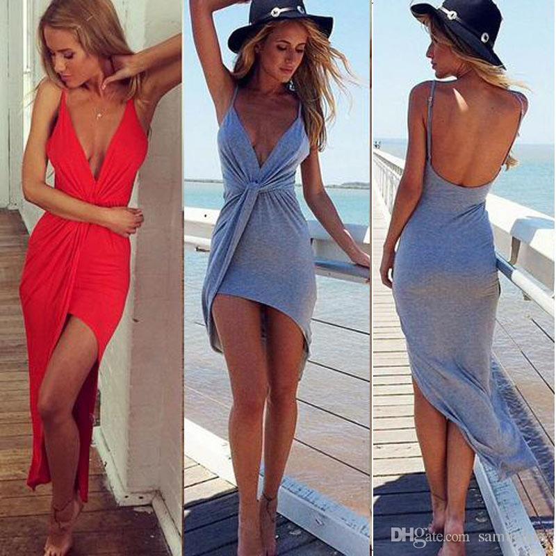 Sexy asymmetrical dress