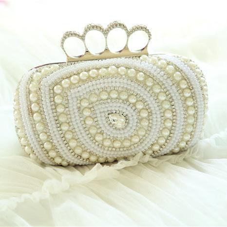 Crystal Bridal Hand Bag 2016 Pearls Cheap Evening Handbag Cheap ...