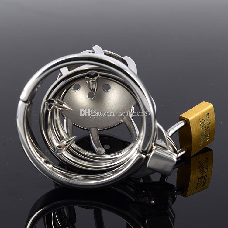 Sex Toys Male Chastity Device Penis Cage Fetish Bondage Chastity Belt SM Adult Products Cock Rings Cockring Small Stainless Steel Cock Cage
