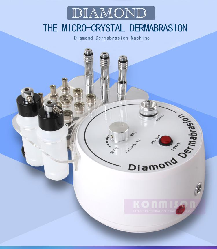 Multifunction Dermabrasion Machine 3 In 1 With Sprayer Vacuum For Head Spot Removal Microdermabrasion Facial Machine Diamond Skin Peeling CE