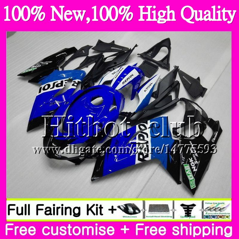 Einspritzung Repsol blau Für Aprilia RS4 RSV125 06 07 08 09 10 11 RS-125 0HT22 RS 125 R RS125 2006 2007 2008 2010 2010 Motorradverkleidung