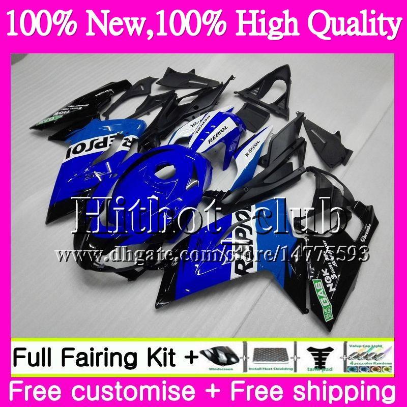 Inyección Repsol azul Para Aprilia RS4 RSV125 06 07 08 09 10 11 RS-125 0HT22 RS 125 R RS125 2006 2007 2008 2010 2010 2011 Motorcycle Fairing