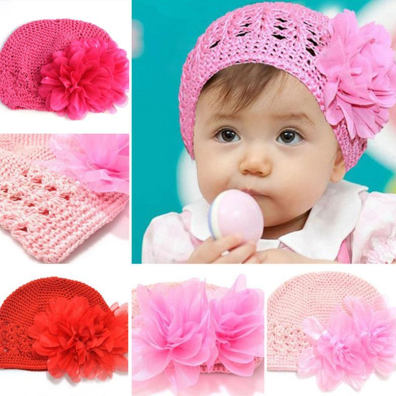 33c86c949 Cute Baby Hats Beanie Baby Cap For Autumn Baby Girls Winter Hats ...