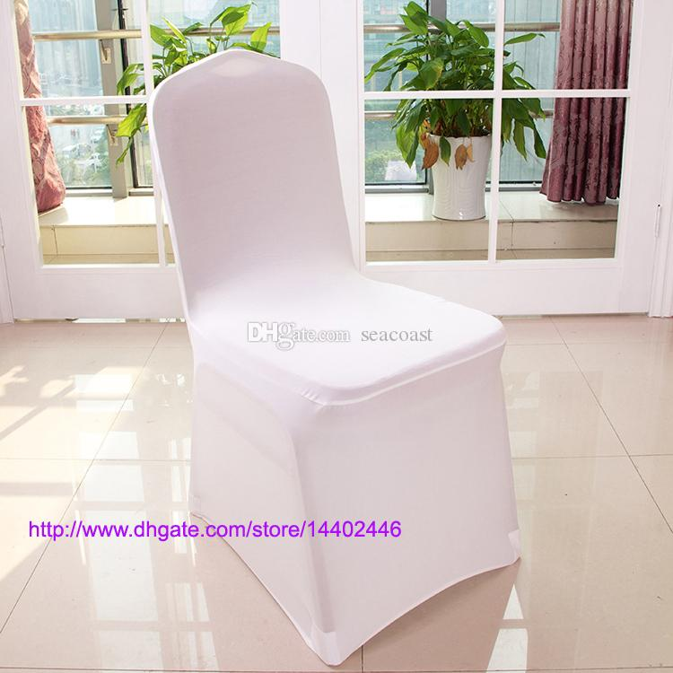 Universal White Spandex Wedding Lycra Chair Covers for Wedding Banquet Hotel Decoration Hot Sale Wholesale #