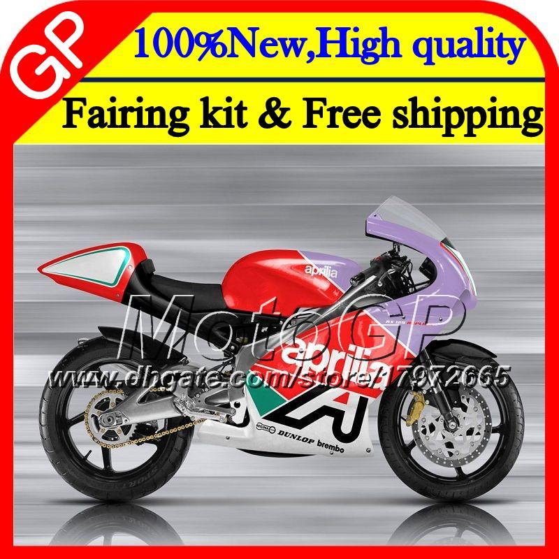 Corpo vermelho púrpura Para Aprilia RS4 RS125 99 00 01 02 03 04 05 RS-125 4GP12 RSV125 RS 125 1999 2000 2001 2002 2003 04 2005 Motocicleta Carenagem