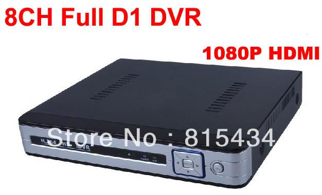 DHL2pcs/lot! 8 canales H.264 FUll D1 960H seguridad video vigilancia dvr soporte solo el grabador 1080p HDMI red CCTV DVR sistema