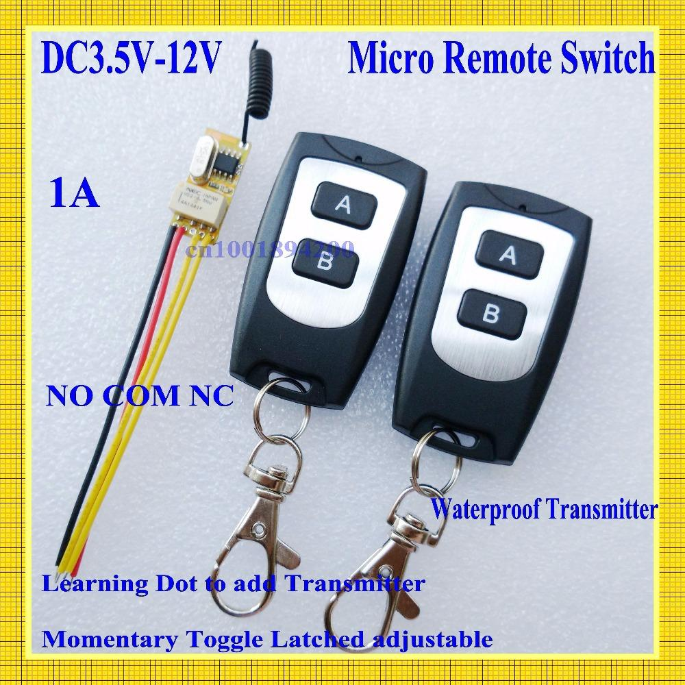 Small Remote Relay Switch 36v 48v 5v 6v 74v 9v 12v Wide Voltage Buy Online India Mini Receiver Transmitter Normally Open Close Wireless Selling Used Electronics