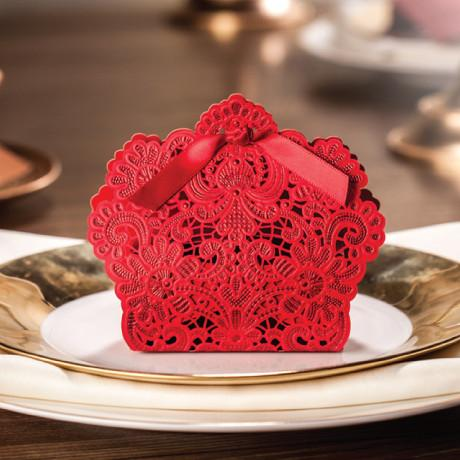 Red Gold Laser Cut Wedding Favor Boxes Candy Box Casamento Favors And Gifts Envelope Gable Gift From Qianhuang