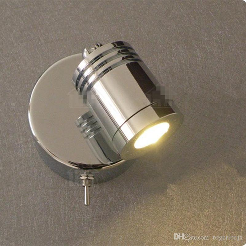 Topoch wall mounted reading lamps rotational switch onoff 3w topoch wall mounted reading lamps rotational switch onoff 3w integral led built in driver chrome finish for hotel rv boat retro wall mounted reading lamp aloadofball