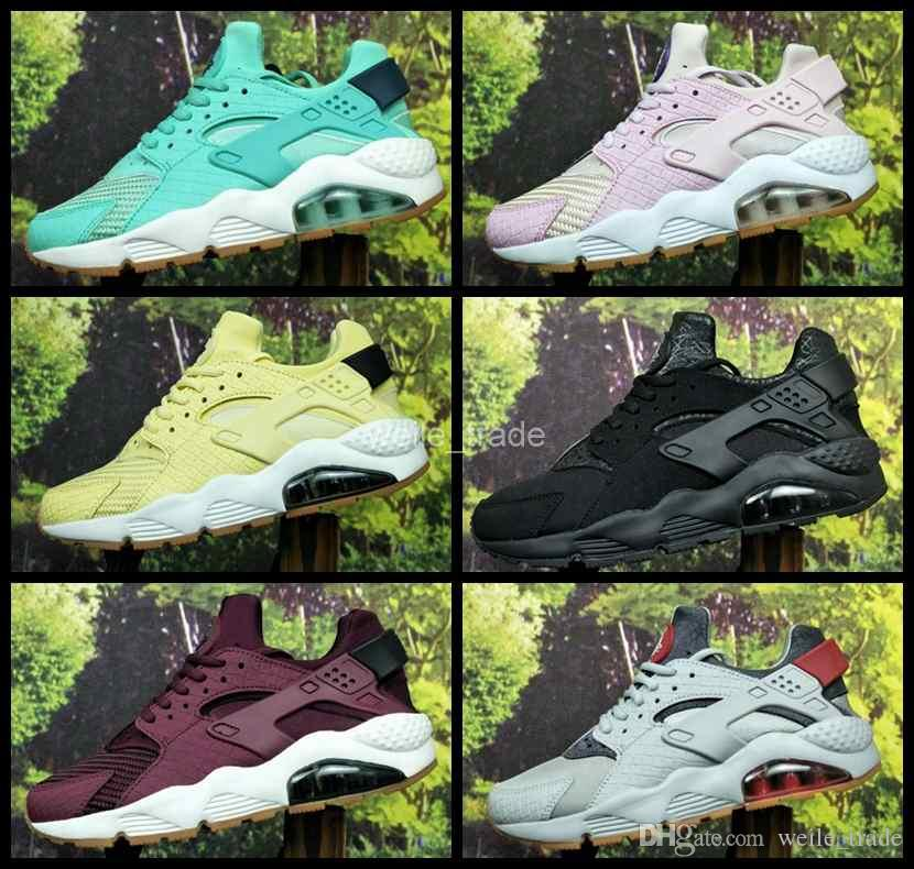 best sneakers 26747 321e7 2017 New Air Huarache I Running Shoes For Men Women,Green White Black Rose  Sneakers Triple Huaraches 1 Mens Trainers Huraches Sports Shoes Huaraches  ...