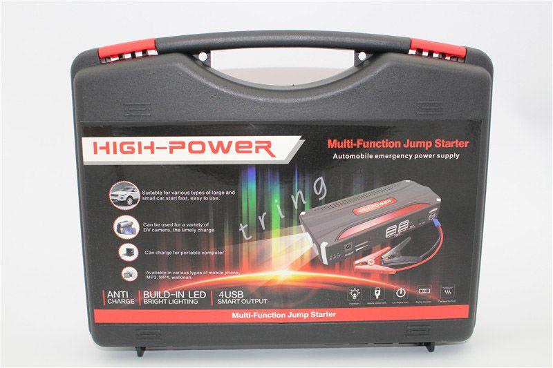 Nuovo Super Funzione Car Jump Starter 4 USB Auto AMPS 68800Mah Avviamento di emergenza Power Car Caricabatteria portatile laptop