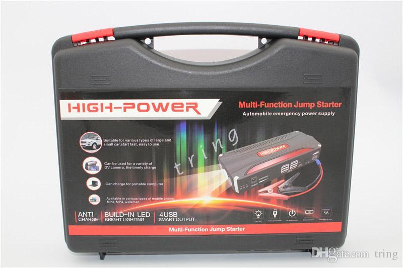Super Funzione Car Jump Starter 4 USB Auto AMPS 16800Mah Avviamento di emergenza Power Car Caricabatteria portatile laptop