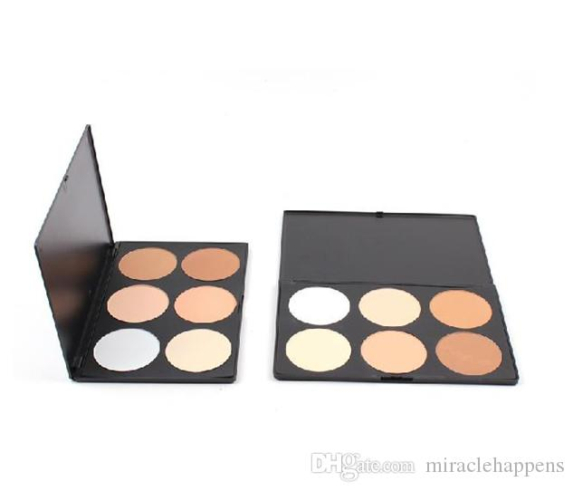 6 Color Professional Contour Shading Facial Care Makeup Foundation Concealer Palette Press Powder Functional