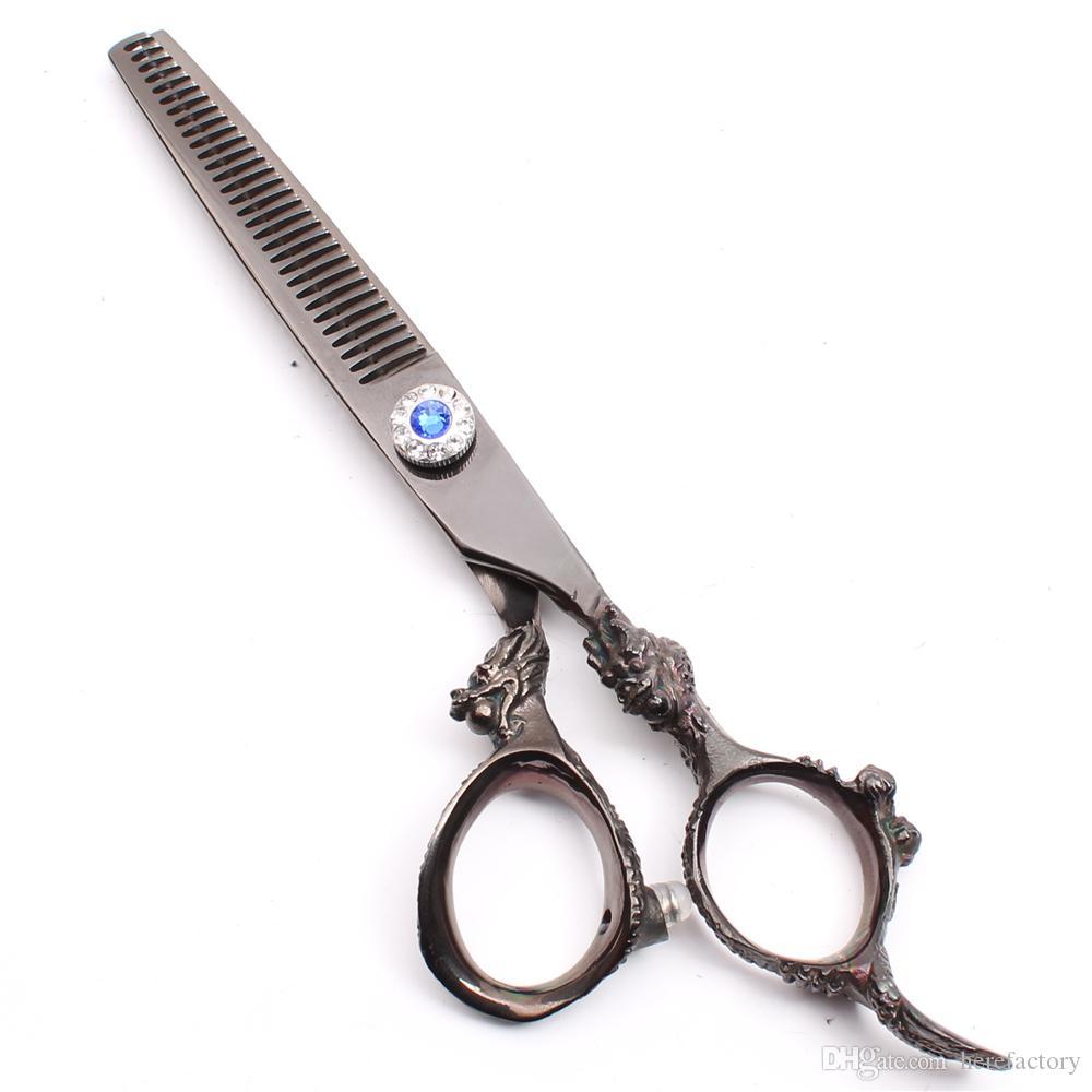 "C9004 6"" 17.5cm 440C Customize Logo Professional Human Hair Scissors Barbers' Hairdressing Scissors Cutting Thinning Shears Salon Style Tool"