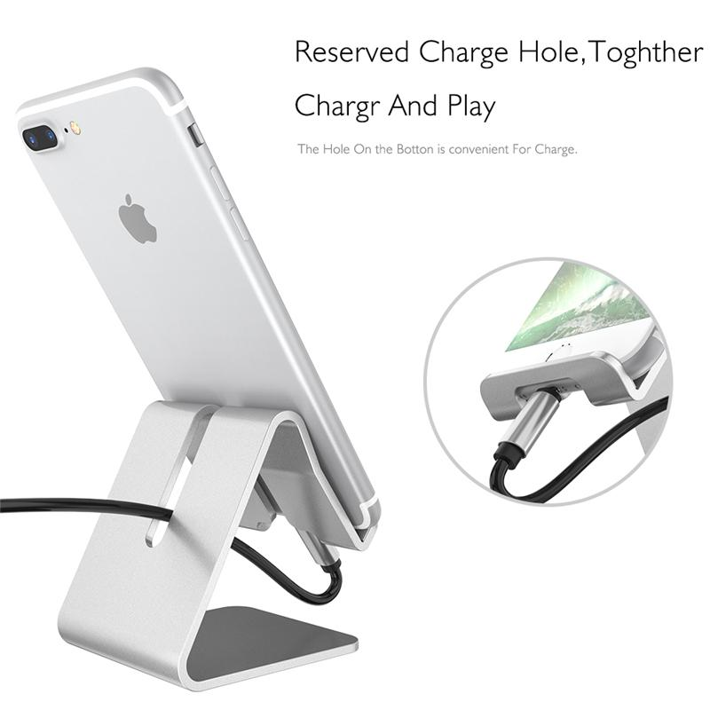 huge selection of 7614c 8518d Phone Holder Tablet Desk Stand Universal Aluminum Metal for iPhone x 8 7  7Plus Samsung Note 8 Cellphone for Kindle Ebook
