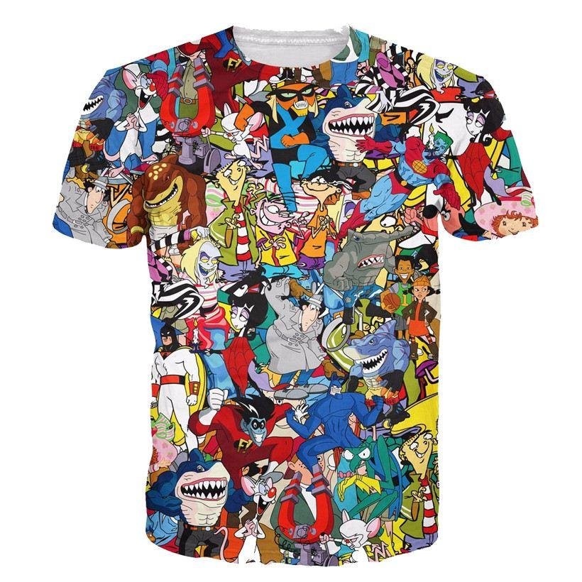 c03ccf9f5db3 W1208 Alisister Women Men Cartoon Print Crewneck T Shirt Funny 3d T Shirt  Fashion Boy Girl Cute Graphic Tee Shirts Latest T Shirts Design Best T  Shirts ...