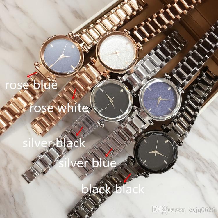 2017 패션 럭셔리 여성 팔찌 시계 쿼츠 로즈 골드 / 실버 / 블랙 드레스 시계 팔찌 스페셜 스타일 레이디 브랜드 Wristatch 고품질