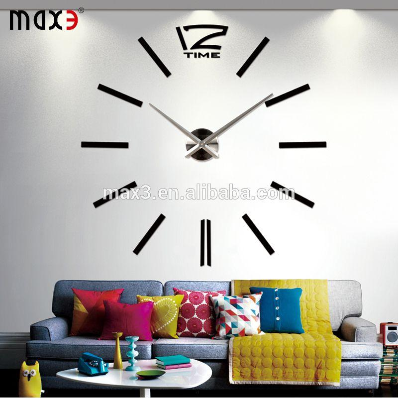 Original Brand 3d Diy Wall Clock Decorative Mirror Wall Clocks Home ...
