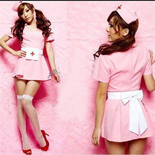 Pink Nurse Suit Set Sexy Costume Anime Cosplay Costume Fz960 Funny Team  Costumes Movie Group Costumes From Verawang1, $26.25