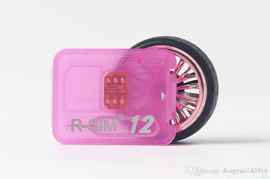 Rsim 12 + r sim 12 + RSIM12 + iPhone 8 için kart kilidini 7 artı i6 kilidi IOS 11.x-7.x 4G CDMA GSM WCDMA