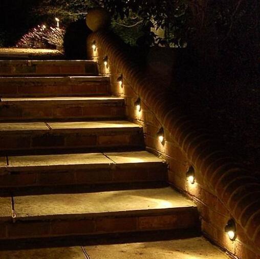 Su geçirmez Açık Havada LED Yeraltı Lambaları 1 W Merdiven için LED Inground Işık Adımları Koridor Kapı Bahçe Dekorasyon Aydınlatma 12 Işıklar /