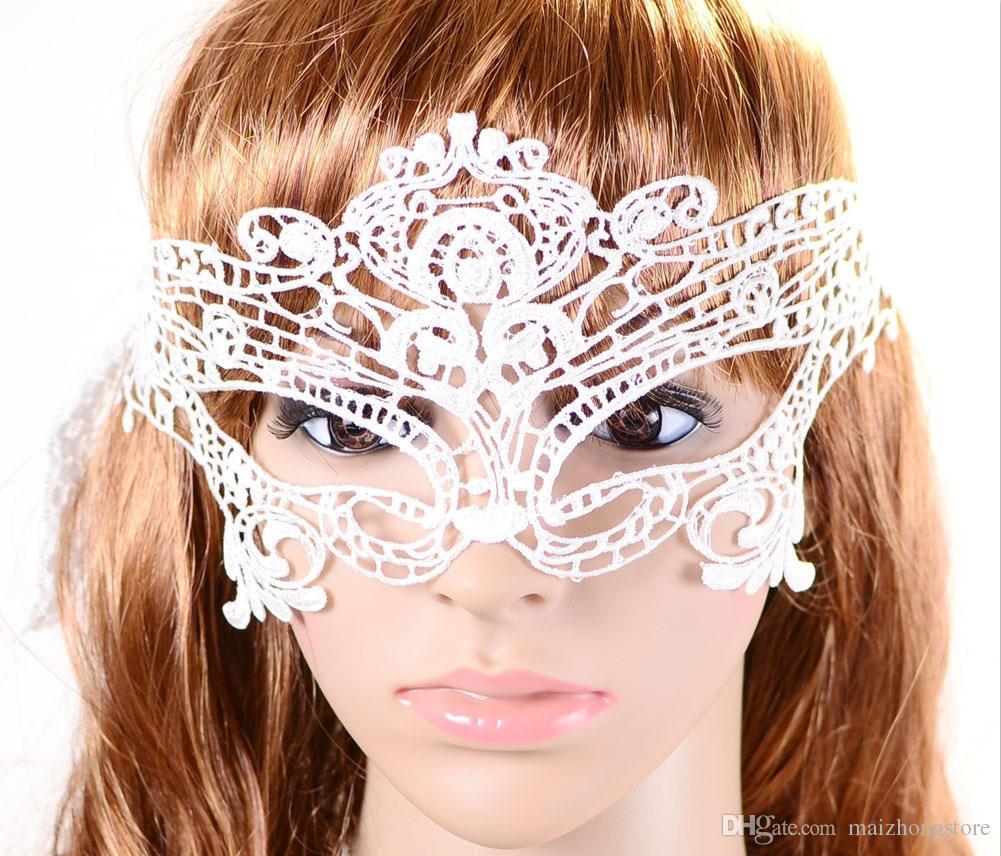 Darmowa wysyłka Blasting z Sexy Koronki Halloween Maska Masquerade Apel Eye Maska Palorial Photogal Maska Dance