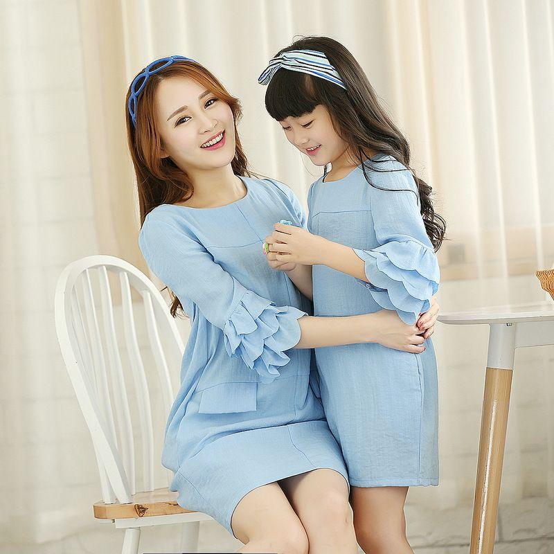 wholesale-2015 mother daughter dresses girls women brand dress