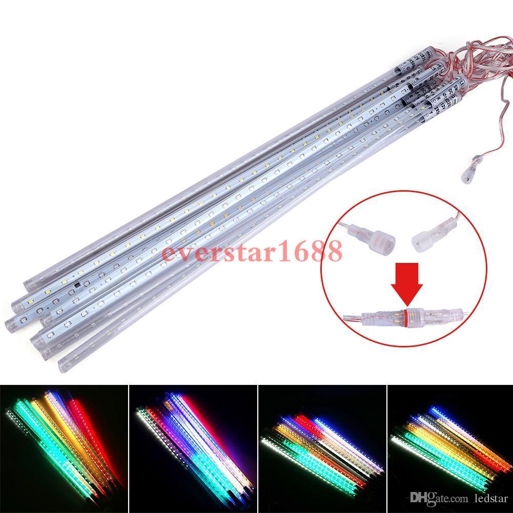 30 cm 50 cm 80 cm 2835 SMD Meteorschauer Regen Outdoor LED Rohr Saiten Weihnachten Fairy Light Beleuchtung 10 Tubes Wasserdicht für Party Dekoration