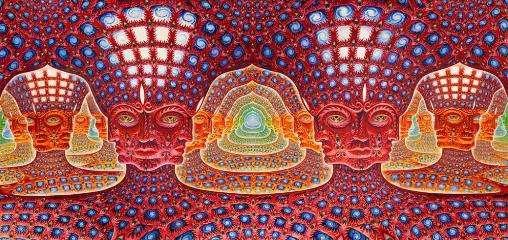 . poster47x24 28x13 Trippy Alex Grey Wall Poster Print Home Decor Wall  Stickers poster Decal  005