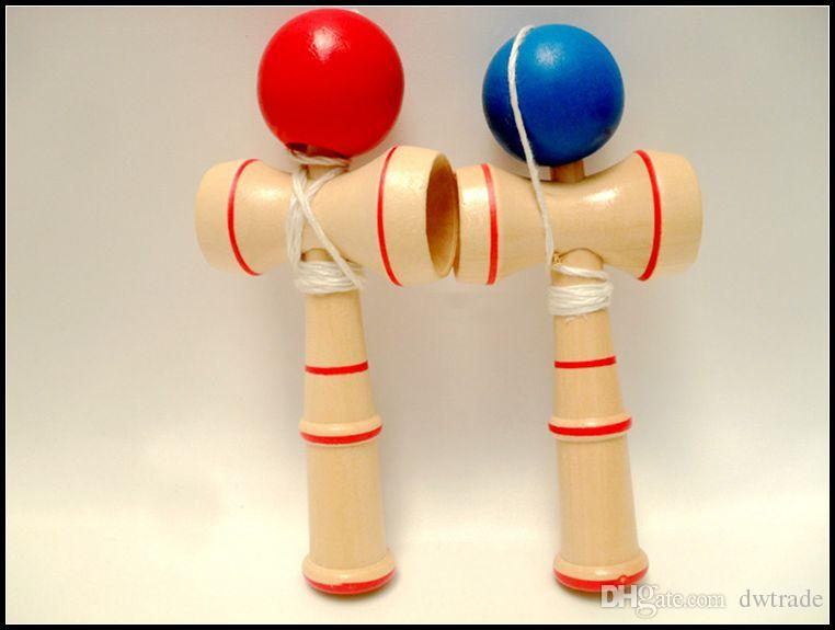 13CM small size Kendama Ball Japanese Traditional Wood Game Toy Education Gift red blue novelty toys gift J071503# DHL FREESHIP