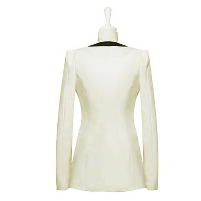 Zanzea 2015 новая мода пиджак костюм Лето Осень женщины ол Slim Fit V шеи одна кнопка лоскутное блейзер Femininas S-XL FG1511