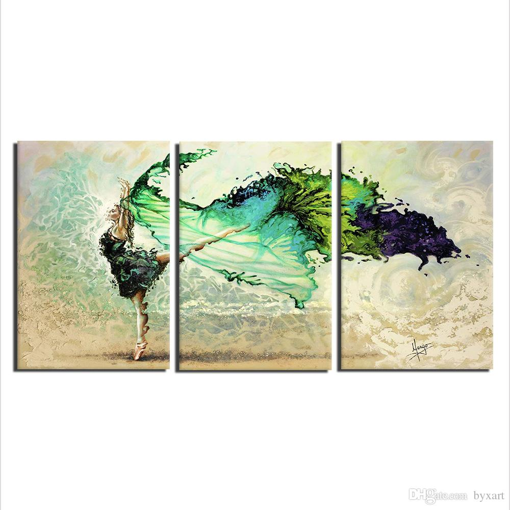 2018 abstract art wall decor 3 panels extra large abstract canvas