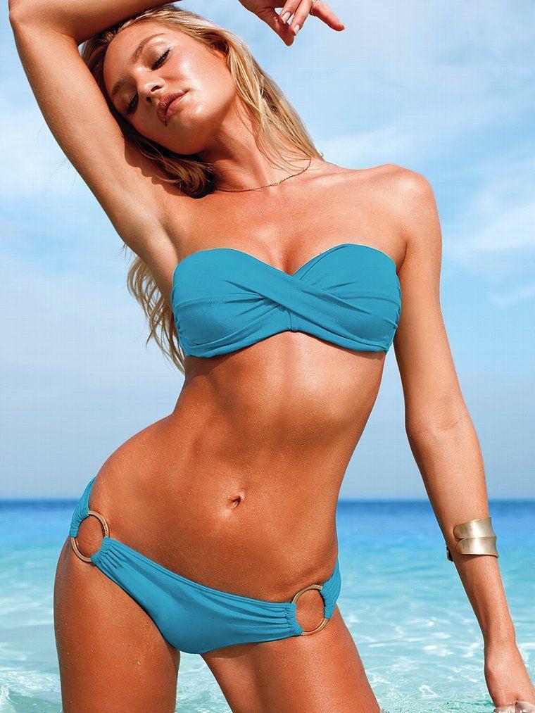 Ruched Off Shoulder Top Circular Ring Tie Bottom Bikini Set