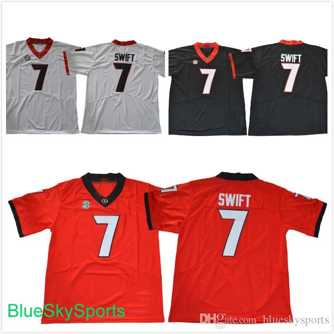 new product f4aa9 b64d5 2017 New Style Georgia Bulldogs 7 D Andre Swift College Football Jerseys  White Black Red Stitched S-3XL