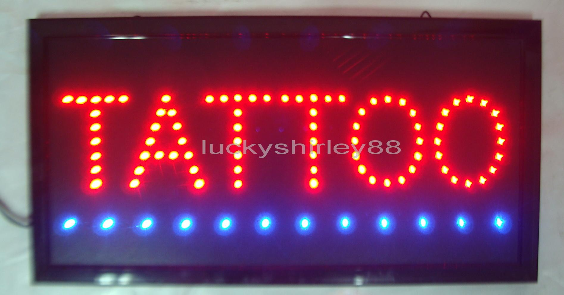 hot sale custom neon signs led tattoo sign led tattoo neon sign led neontattoo signs indoor led open for the shop open from