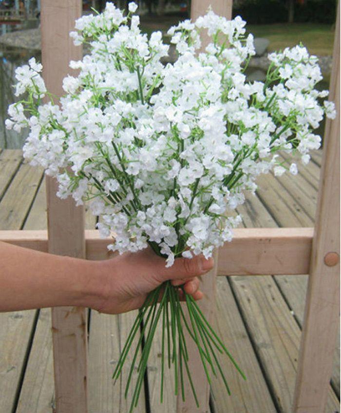 405cm Gypsophila Babys Breath Artificial Fake Silk Flowers Plant Home Wedding Decoration Dry