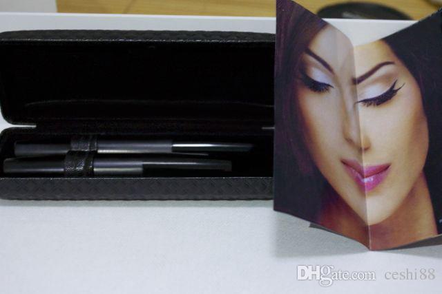 Vente chaude 3D FIBRE LASHES MASCARA Ensemble Maquillage cils cils imperméable double mascara avec détail boîte = avec boîte de détail