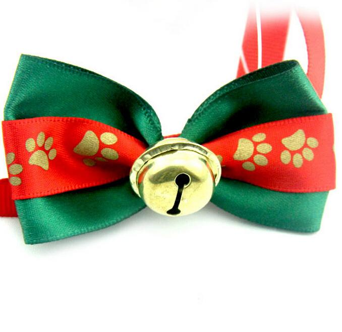 Christmas Dog Neck Ties Cute With Tinkle Bell Christmas Festival ...