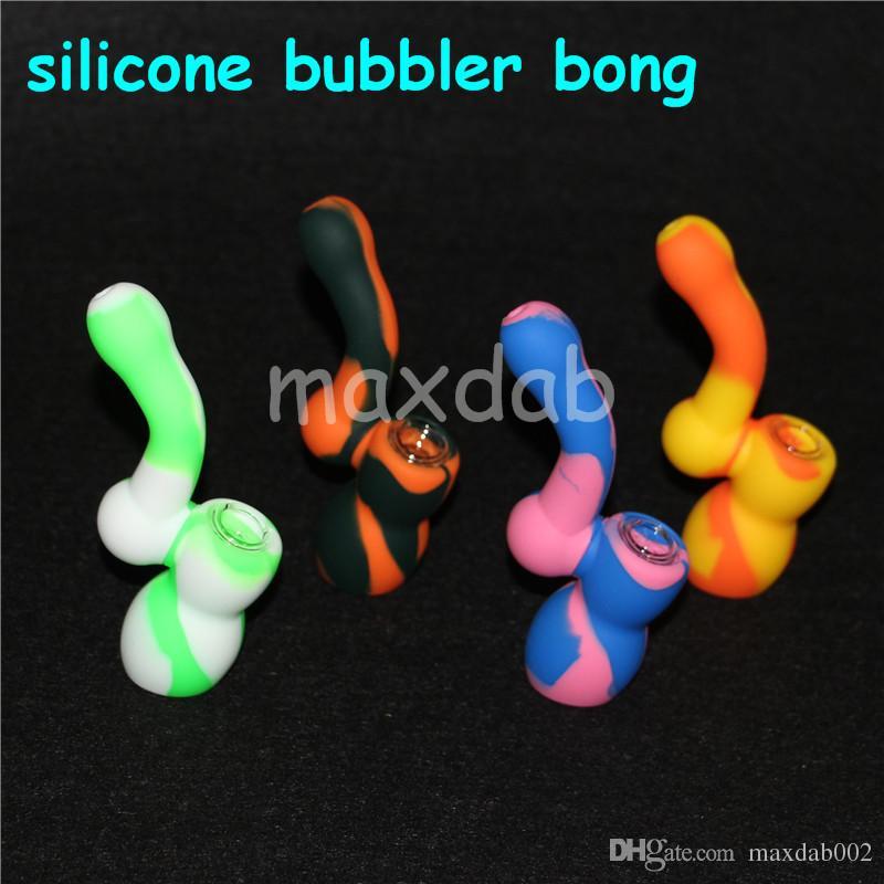 Yeni beher tasarım, silikon nargile nargile, sigara su boruları, silikon nargile, kırılmaz nargile filtresi, silikon bong silikon balmumu mat