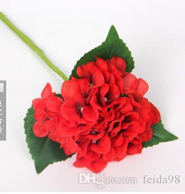Ortensia simulata, 30 pezzi di Ortensia, fiore di seta a ramo singolo, fiore della holding della sposa, fiore che organizza l'ortensia