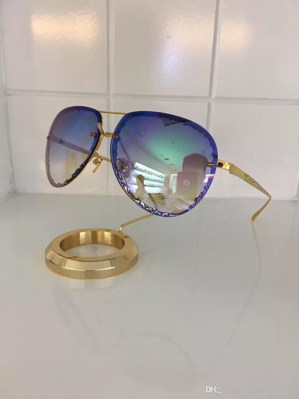 Acheter Luxe Lunettes De Soleil Italie Super Sung Top Qualité Alliage  Lunettes De Soleil Ovale Sans Cadre Hommes Femmes Marque Designer Uv400  Protection ... af9a39f2f99f