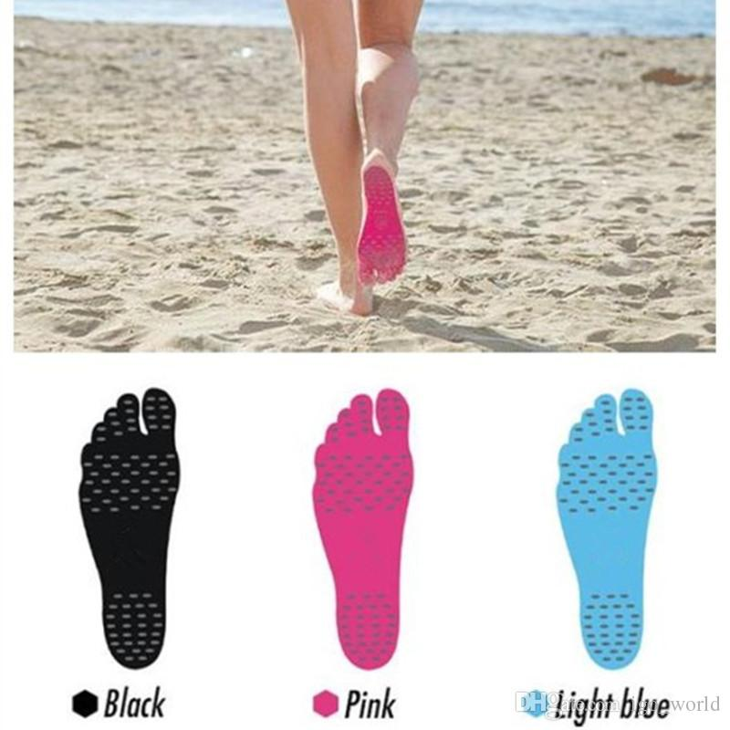 Adesivos de Pé Sapatos Vara em Solas Almofadas Pegajosas Meias Impermeáveis Adesivo Adesivo Solas Anti-Slip Adesivo Almofada de Sapatos de Praia para Andar Livremente