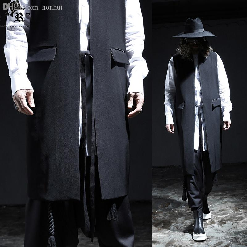 Harajuku Lace Long Men Version Korean The Influx N16 Fall S Fashion Casual Japanese Section Vest Of k80OnwP